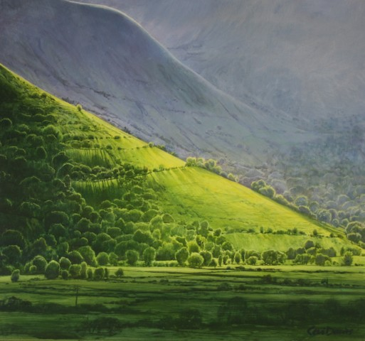 Ceri Auckland Davies, Evening Light (Cwm Cywarch)
