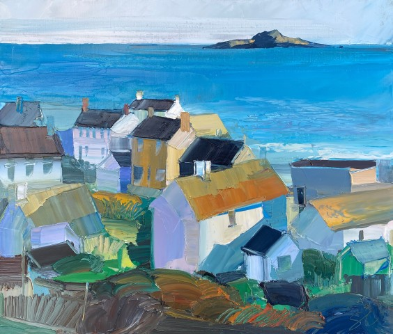 Sarah Carvell, Aberdaron, Blue View