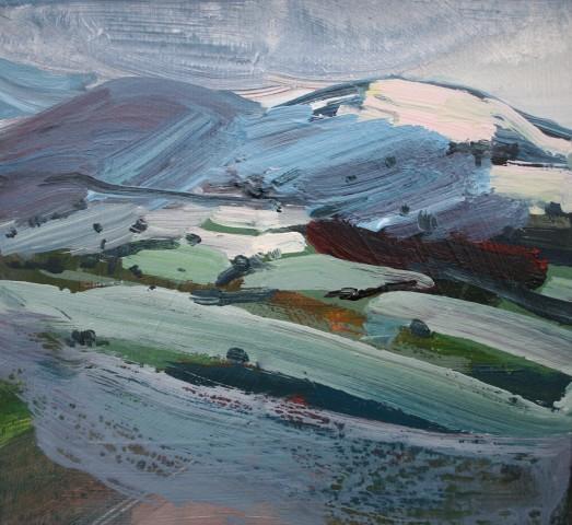 Sarah Carvell, Eira Newydd ar Bryniau Clwyd / New Snowfall on the Clwydians