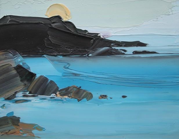 Sarah Carvell, The Sun Dips Beneath the Headland