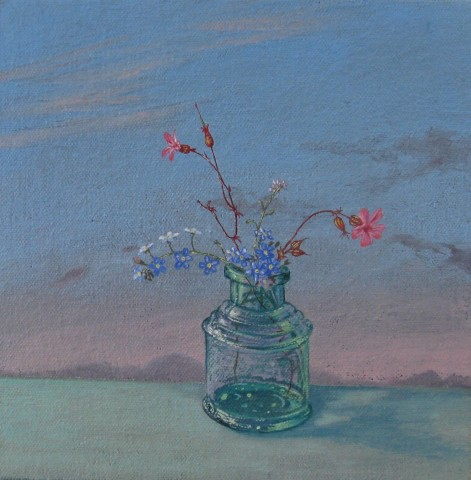 Kim Dewsbury, Forget me nots with shining Cranesbill