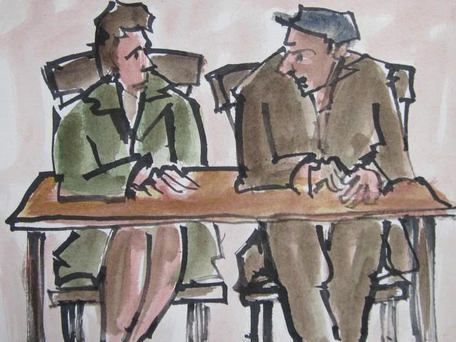 Mike Jones, Couple, Cafe
