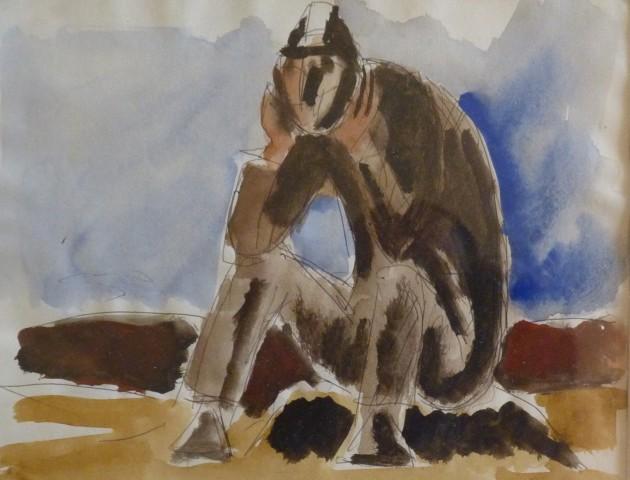 Josef Herman, Miner Resting