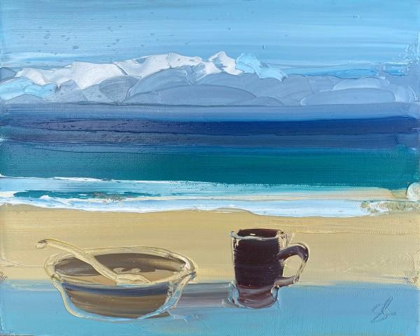 Sarah Carvell, Bowl and Mug, Porthmeor