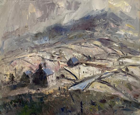 Gareth Parry, Fferm Fynydd, Bore Cynnar / Hill Farm, Early Morning
