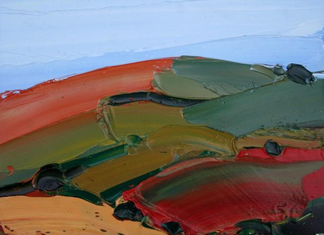 Sarah Carvell, Bryn Lliw Copor, Hydref / Hill Glowing Copper, Autumn
