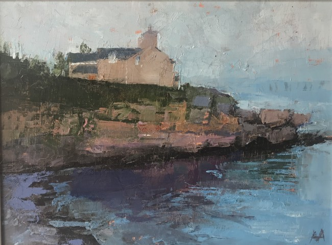 Anne Aspinall, House on the Harbour, Moelfre