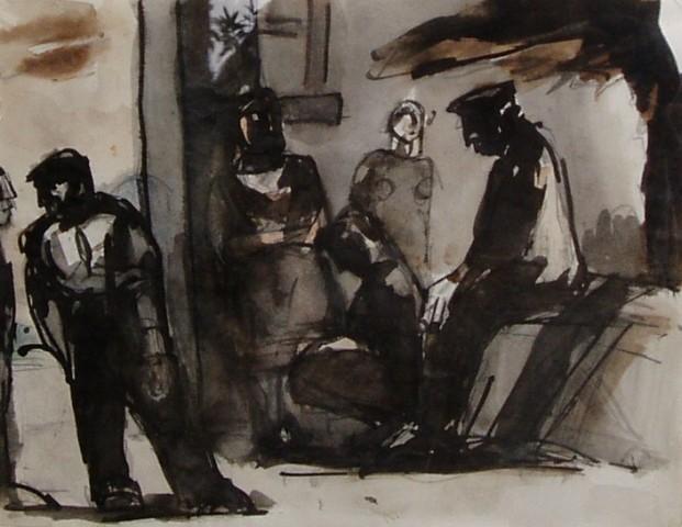 Josef Herman, Street Scene