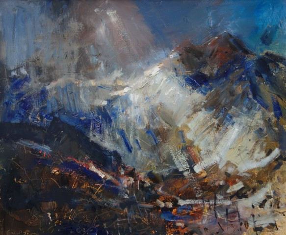 Gareth Parry, Haul, Niwl a Glaw, Eryri / Sun, Mist and Rain, Snowdon