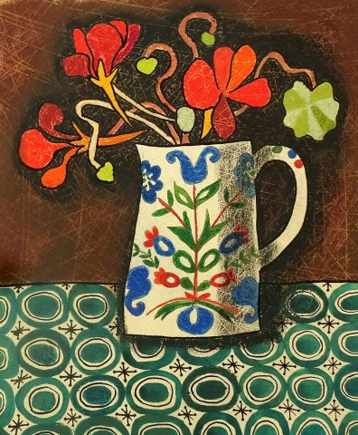 Susan Gathercole, Nasturtiums and Folk Jug
