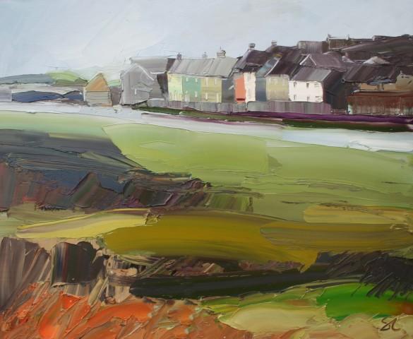 Sarah Carvell, Yr Aber yn Aberffraw / The Estuary at Aberffraw