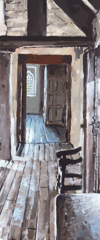 Matthew Wood, Gwydir Castle - View from the Hall of Meredith (Sunshine)