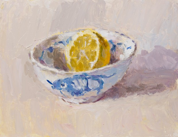 Lynne Cartlidge, Lemon Half in a Chinese Bowl II