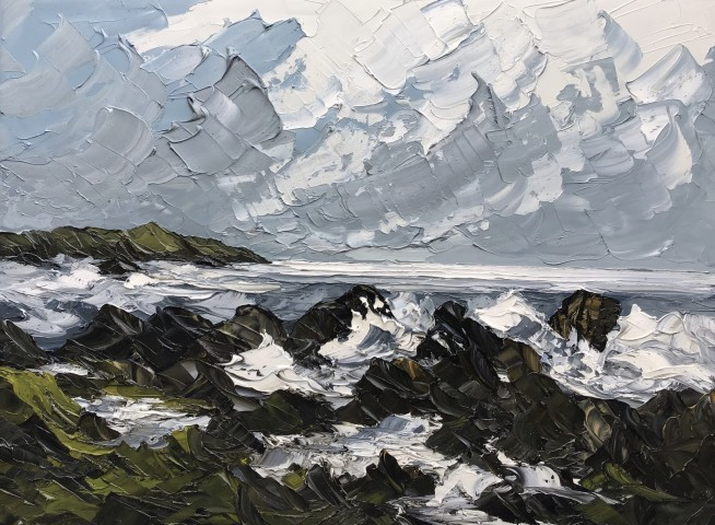 Martin Llewellyn, Rough Sea and Surf, Anglesey