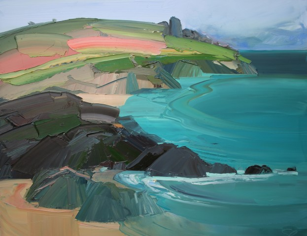 Sarah Carvell, Creigiau Pinc, St Ives / Pink Cliff, St Ives