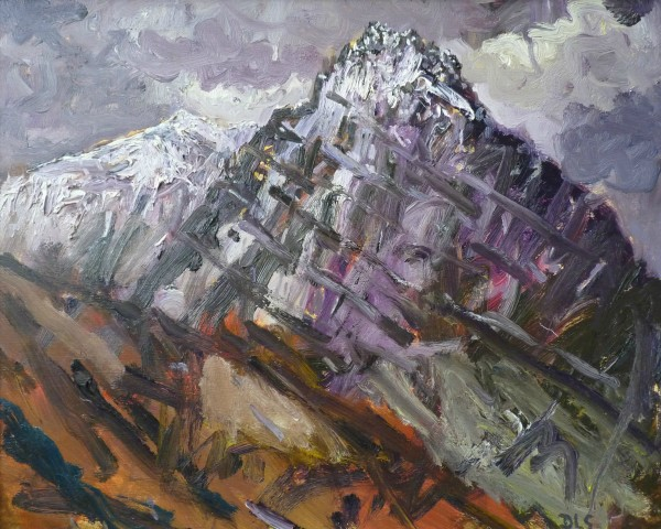 David Lloyd Griffith, Snow Capped Tryfan and Glyder Fach I