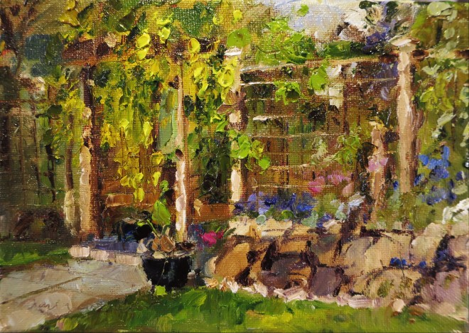 David Grosvenor, The Artist's Garden I