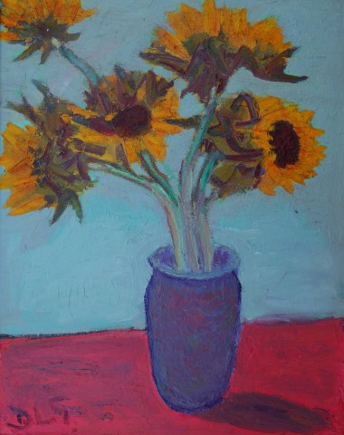 David Lloyd Griffith, Five Sunflowers in a Vase