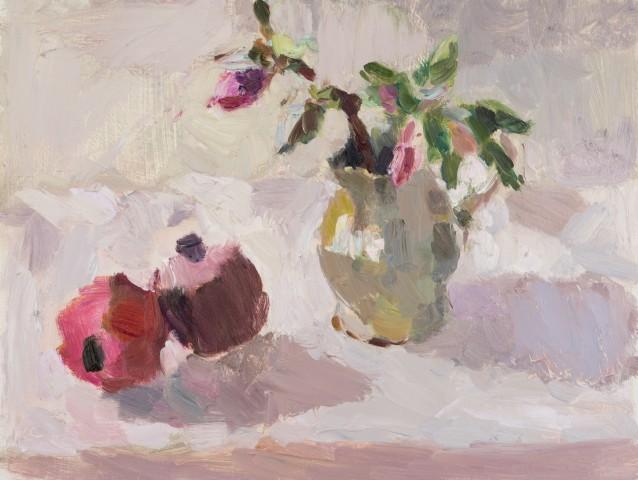 Lynne Cartlidge, Hellebores with Pomegranates