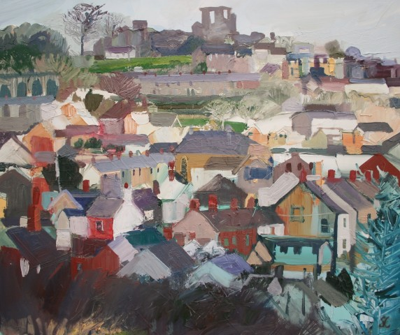 Sarah Carvell, Golygfa o Ddinbych, Cartre Jean / Denbigh View with Jean's House