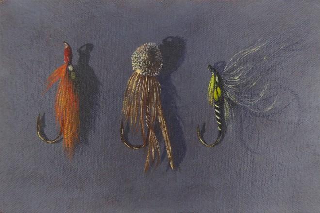 Kim Dewsbury, Three Flies I