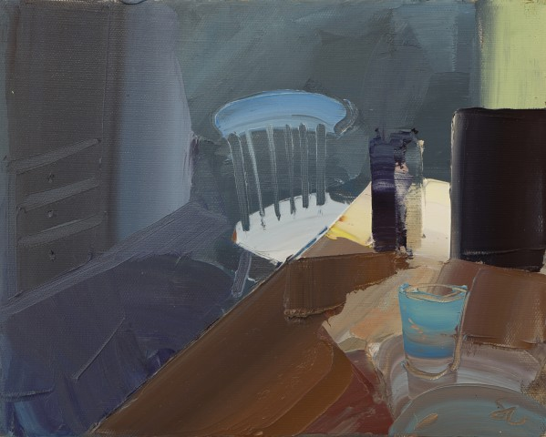 Sarah Carvell, Shaft of Light on the Kitchen Table