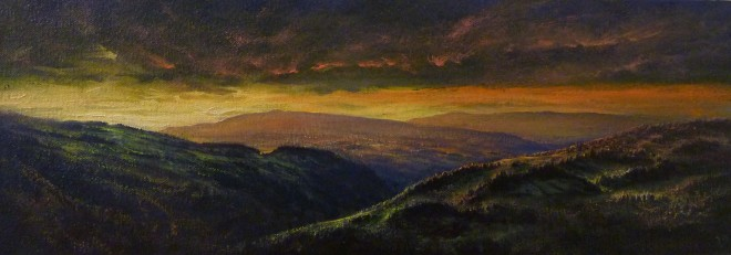 Gerald Dewsbury, Sunset at Worlds End