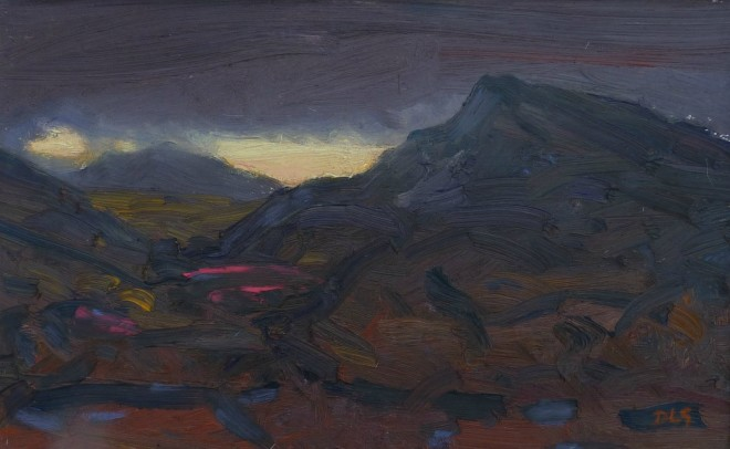 David Lloyd Griffith, Dusk - Allt Wen and Foel Llus, from Pensychnant
