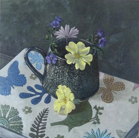 Kim Dewsbury, Wildflowers with Sketchbook