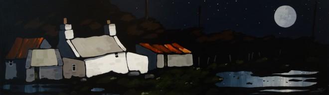 Stephen John Owen, Moonlit Farm