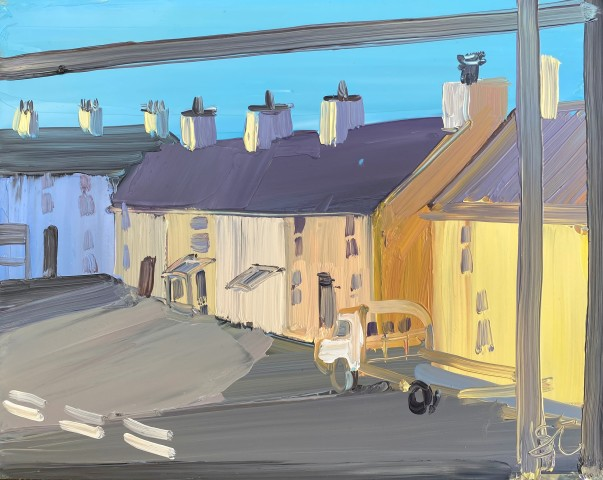 Sarah Carvell, Aberffraw Village with Truck