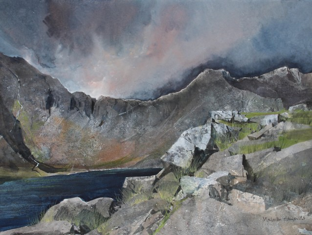 Malcolm Edwards, Autumn Light, Cwm Idwal