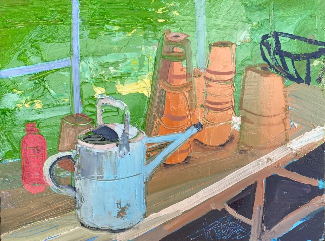 Sarah Carvell, Watering Can and Plant Pots