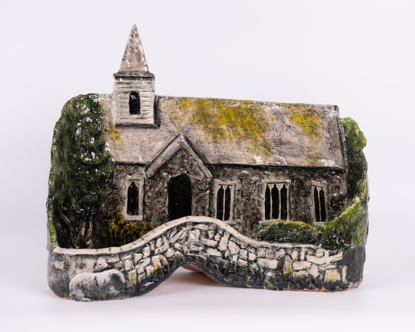 Helen Gittins, Manafon Church 'The church stands, built from the river stone' (After R. S. Thomas)