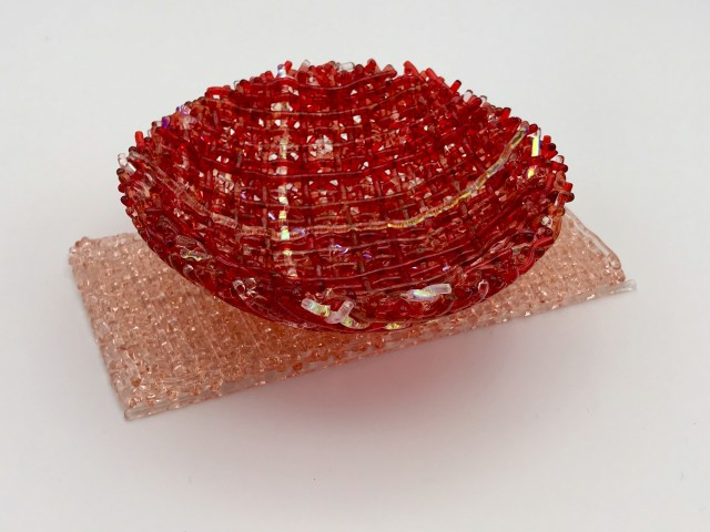 Cathryn Shilling, Mini: Sunset Coral/Light Coral Orange on Light Coral Orange Base, 2020