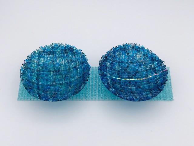 Cathryn Shilling, Mini: Turquoise Blue/Steel Blue on Light Aquamarine Blue Base, 2020