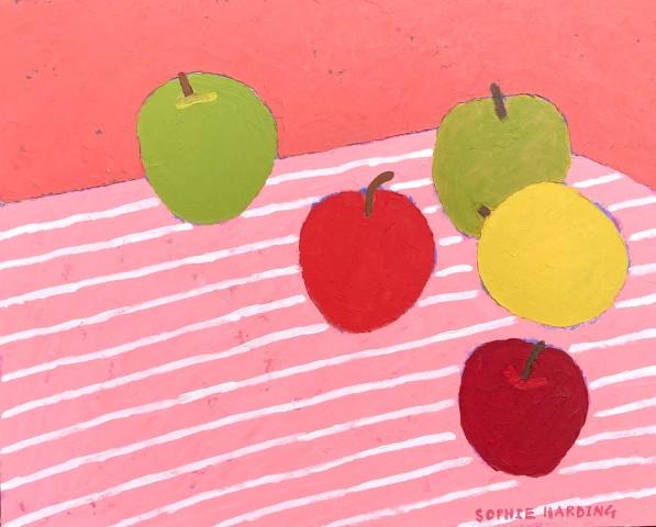 Sophie Harding, Apples on Stripes