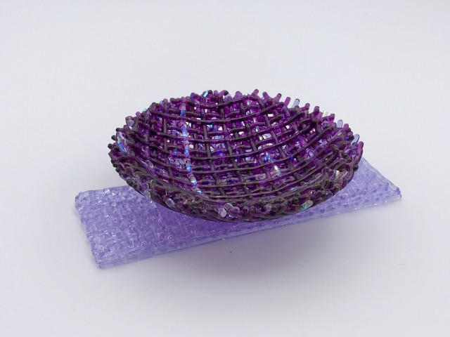 Cathryn Shilling, Tiny: Violet/Neo Lavender on Neo Lavender Base, 2020