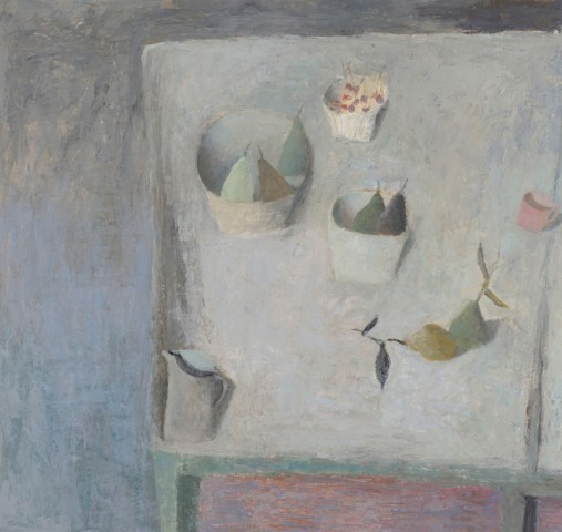 Nicholas Turner RWA, Table with Pears