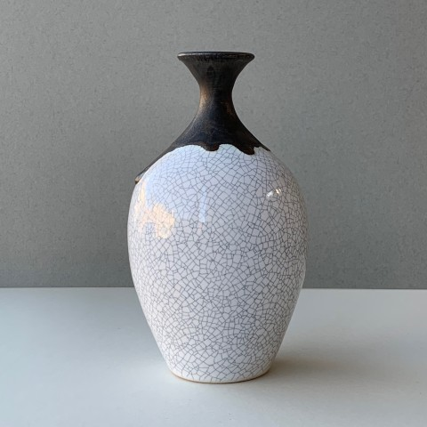 Crackle Glaze Bowl Teardrop Vase