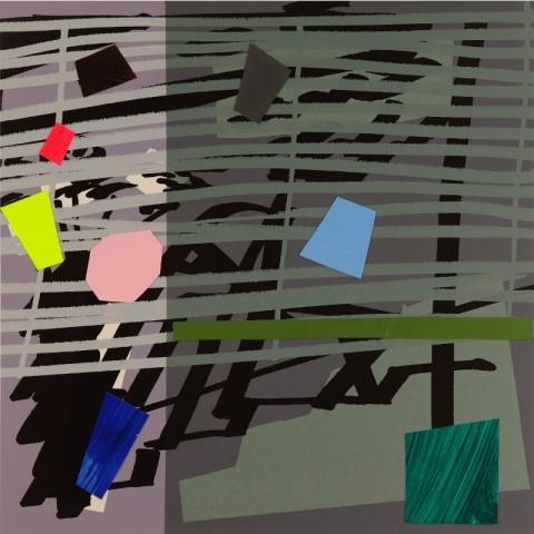 Bruce McLean, Green Grey Violet Shadow