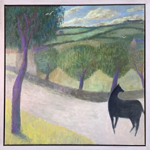 Nicholas Turner RWA, Horse on a Lane