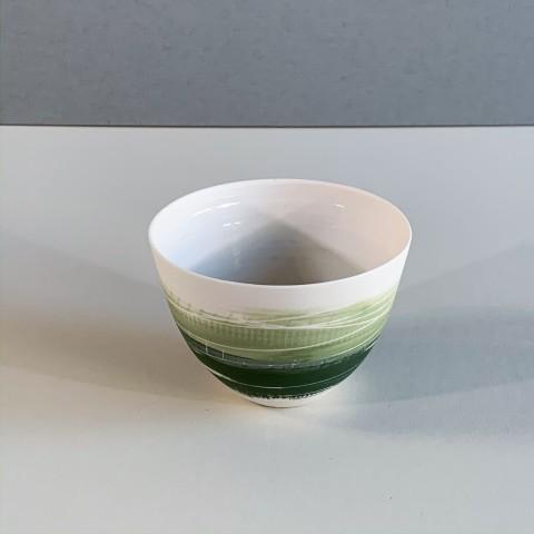 Ali Tomlin, AT9 - Small Cup/Bowl, Two Greens