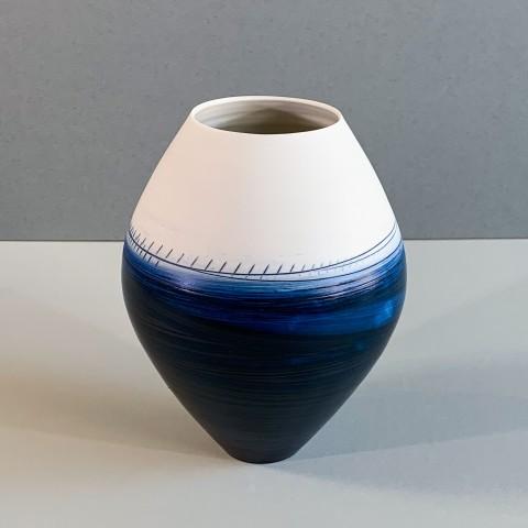 Ali Tomlin, AT15 - Oval Vase, Indigo