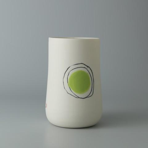 Ali Tomlin, Tall Cup - Green Spot