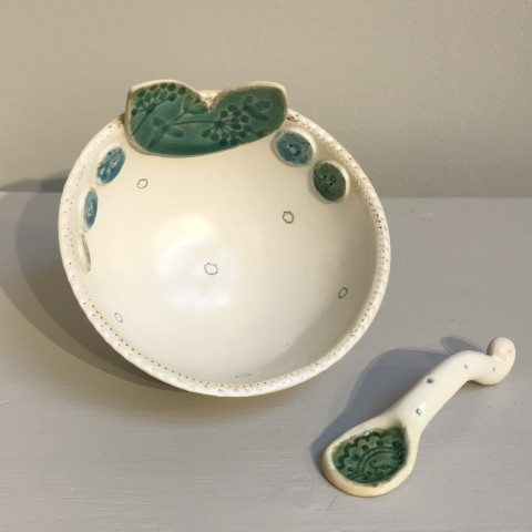 Small Bowl and Spoon 1