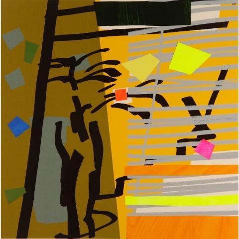 Bruce McLean, Tree Fern Shadow Yellow