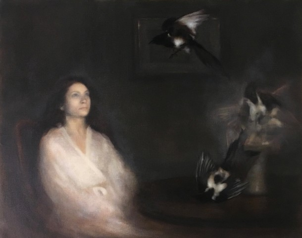 Nneka Uzoigwe, Portrait of a Woman Summoning Magpies