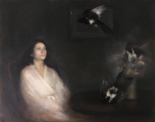 Nneka Uzoigwe, Portrait of a Woman Summoning Magpies