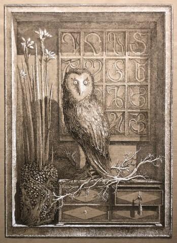L'Oiseau de Minerve (épreuve rehaussée)